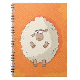 Ejemplo de una oveja gigante linda y divertida libretas