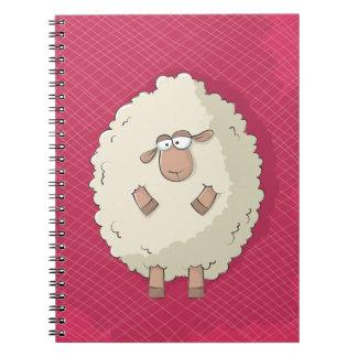 Ejemplo de una oveja gigante linda y divertida libros de apuntes
