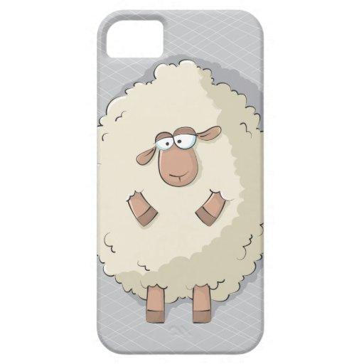 Ejemplo de una oveja gigante linda y divertida iPhone 5 protector