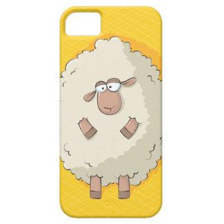Ejemplo de una oveja gigante linda y divertida iPhone 5 cárcasas