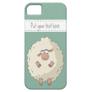 Ejemplo de una oveja gigante linda y divertida iPhone 5 fundas