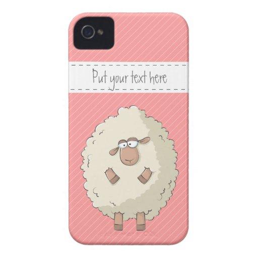Ejemplo de una oveja gigante linda y divertida Case-Mate iPhone 4 coberturas