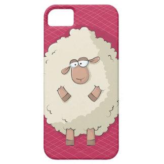 Ejemplo de una oveja gigante linda y divertida funda para iPhone SE/5/5s