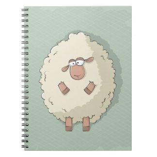 Ejemplo de una oveja gigante linda y divertida libros de apuntes con espiral