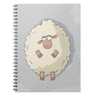Ejemplo de una oveja gigante linda y divertida libretas espirales