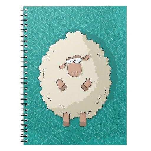 Ejemplo de una oveja gigante linda y divertida libro de apuntes