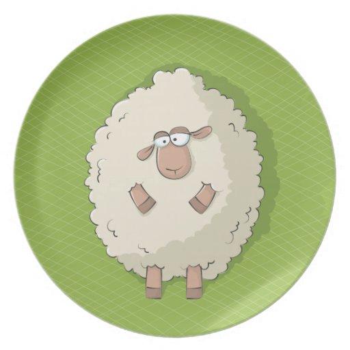 Ejemplo de una oveja gigante linda y divertida plato