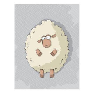 Ejemplo de una oveja gigante linda y divertida postal
