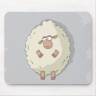 Ejemplo de una oveja gigante linda y divertida tapetes de raton