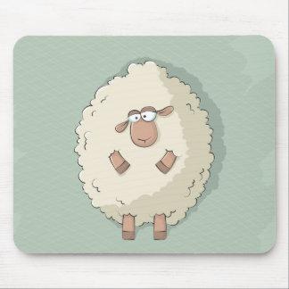 Ejemplo de una oveja gigante linda y divertida tapetes de ratones
