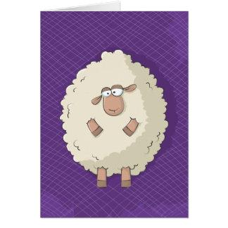 Ejemplo de una oveja gigante linda y divertida tarjeta de felicitación