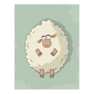 Ejemplo de una oveja gigante linda y divertida tarjeta postal