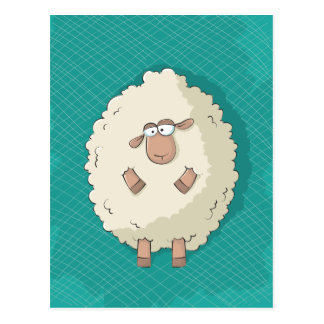 Ejemplo de una oveja gigante linda y divertida tarjetas postales