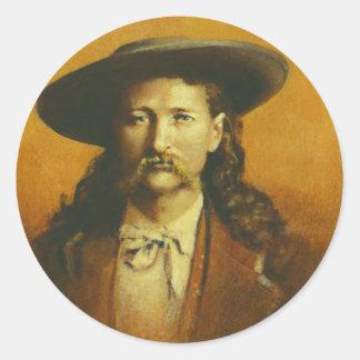 Ejemplo de Wild Bill Hickok Pegatina Redonda