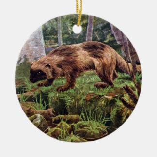 Ejemplo de Wolverine del vintage Ornamento Para Arbol De Navidad