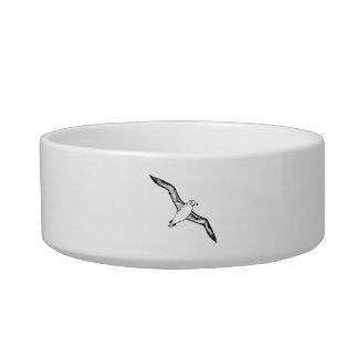 Ejemplo del albatros del vuelo tazón para comida gato