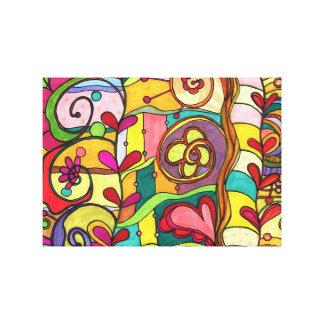 """Ejemplo del """"amor y del color"""" por Paisley en Pari Impresión En Lienzo"""