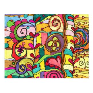 """Ejemplo del """"amor y del color"""" por Paisley en Tarjetas Postales"""