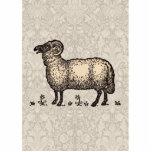 Ejemplo del animal del campo de las ovejas del vin esculturas fotográficas