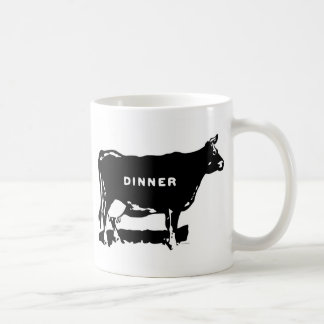 Ejemplo del anuncio de la cena de la carne de vaca taza clásica