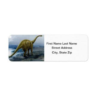 Ejemplo del Apatosaurus (Brontosaurus) Etiquetas De Remite