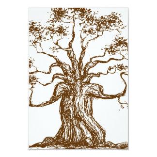 """Ejemplo del árbol de Brown Invitación 3.5"""" X 5"""""""