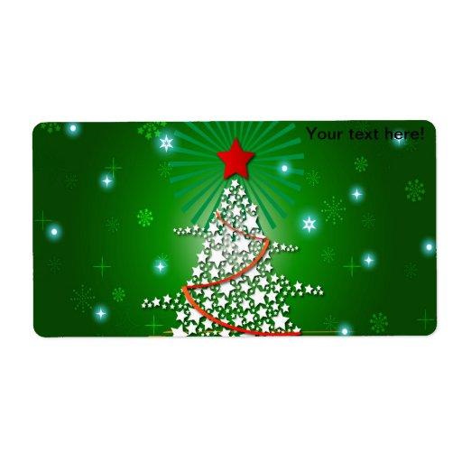 Ejemplo del árbol de navidad etiquetas de envío