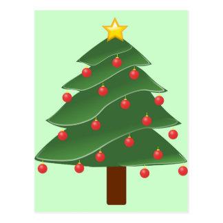Ejemplo del árbol de navidad postales
