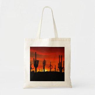 Ejemplo del árbol del cactus cuando la puesta del