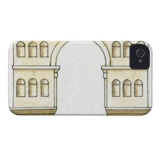 Ejemplo del arco del siglo IV temprano de Jano iPhone 4 Case-Mate Cárcasa