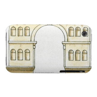 Ejemplo del arco del siglo IV temprano de Jano iPhone 3 Carcasa