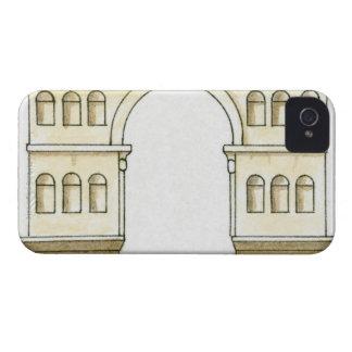 Ejemplo del arco del siglo IV temprano de Jano iPhone 4 Case-Mate Funda