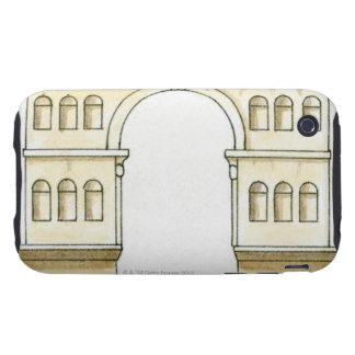 Ejemplo del arco del siglo IV temprano de Jano iPhone 3 Tough Carcasa