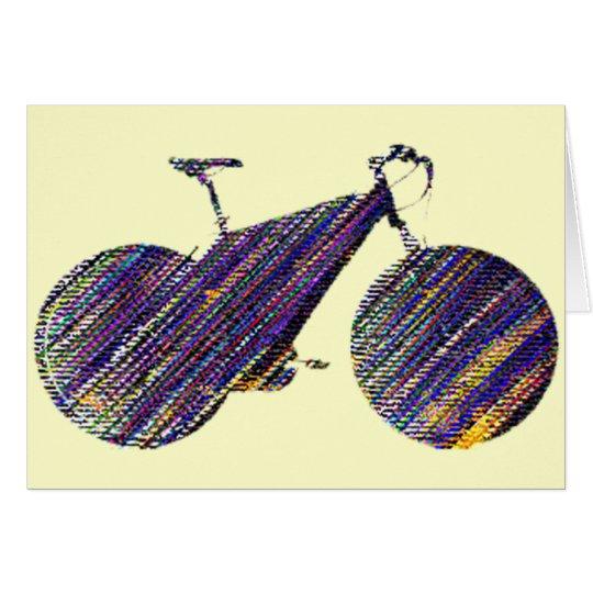 ejemplo del arte de la bici tarjeta de felicitación