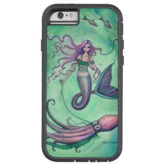 Ejemplo del arte de la fantasía de la sirena y del funda para  iPhone 6 tough xtreme