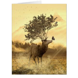Ejemplo del arte de la naturaleza de la fantasía tarjeta de felicitación grande
