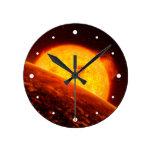 Ejemplo del arte del espacio de Corot-7B Relojes De Pared