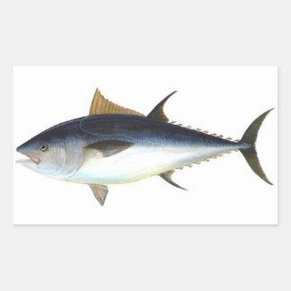 Ejemplo del atún de Bluefin Pegatina Rectangular