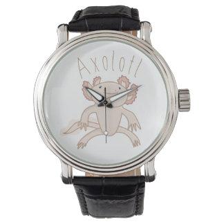 Ejemplo del Axolotl de Digitaces, animal lindo Reloj De Mano