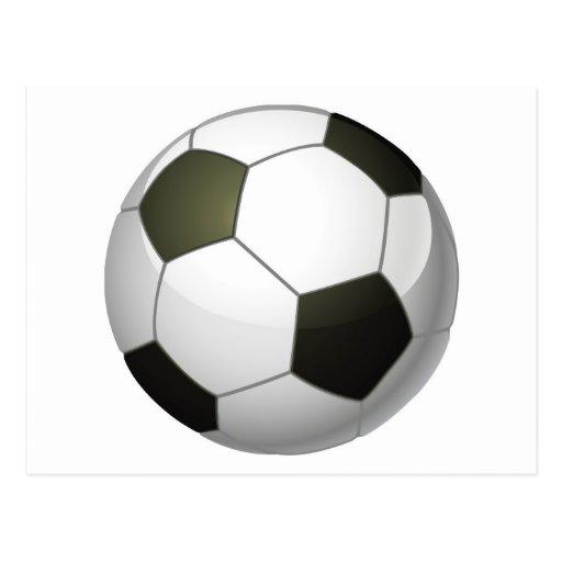 Ejemplo del balón de fútbol postal