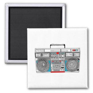 ejemplo del boombox 80s imán cuadrado