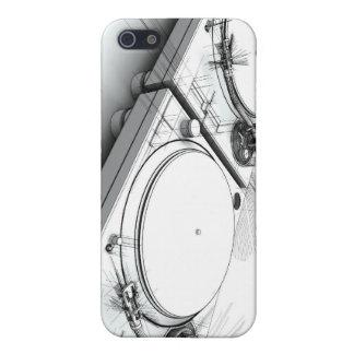 Ejemplo del bosquejo 3D de las placas giratorias d iPhone 5 Fundas