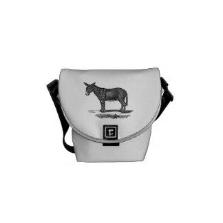 Ejemplo del burro del vintage - burros 1800's bolsas messenger