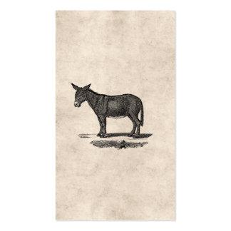 Ejemplo del burro del vintage - burros 1800's plantillas de tarjetas personales