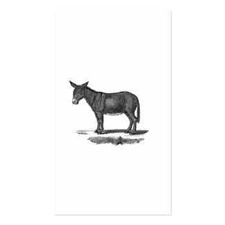 Ejemplo del burro del vintage - burros 1800's tarjeta de visita