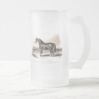 Ejemplo del caballo del semental del carro de los taza de cristal