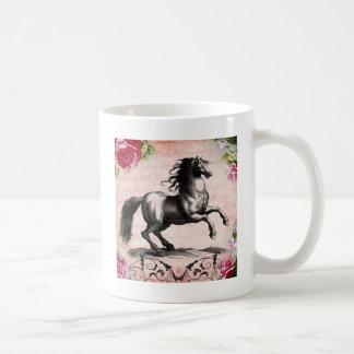 Ejemplo del caballo del vintage taza