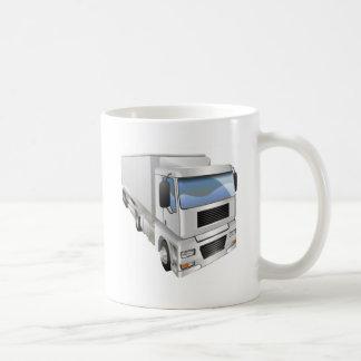 Ejemplo del camión de transporte taza de café