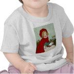 Ejemplo del Caperucita Rojo del vintage Camisetas