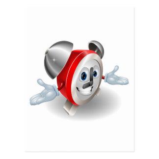 Ejemplo del carácter del despertador postales